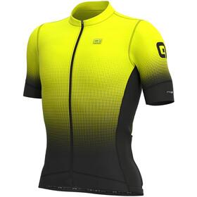 Alé Cycling PRS Dots SS Jersey Herren black/yellow fluo